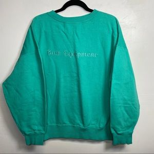 90's BUM Equipment embroidered spellout sweater
